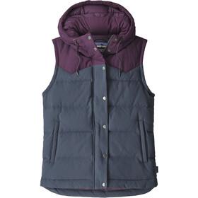 Patagonia Bivy Hooded Vest Dame Smolder Blue w/Deep Plum